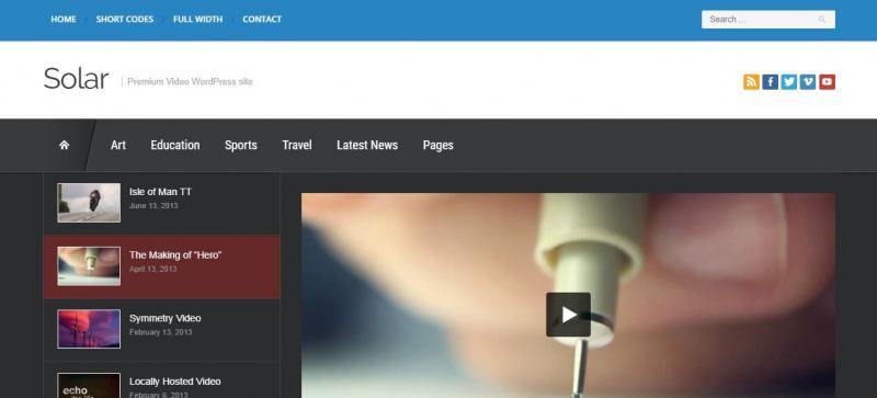 Retina Ready WordPress Video Theme
