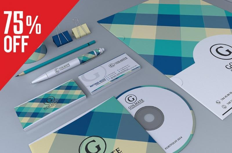 Retro Branding Template PSD