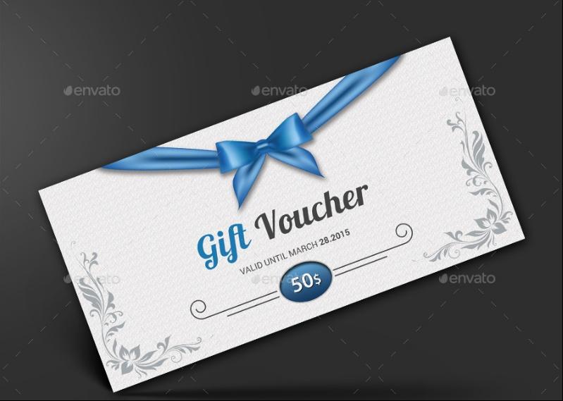 Retro Gift Certificate Template