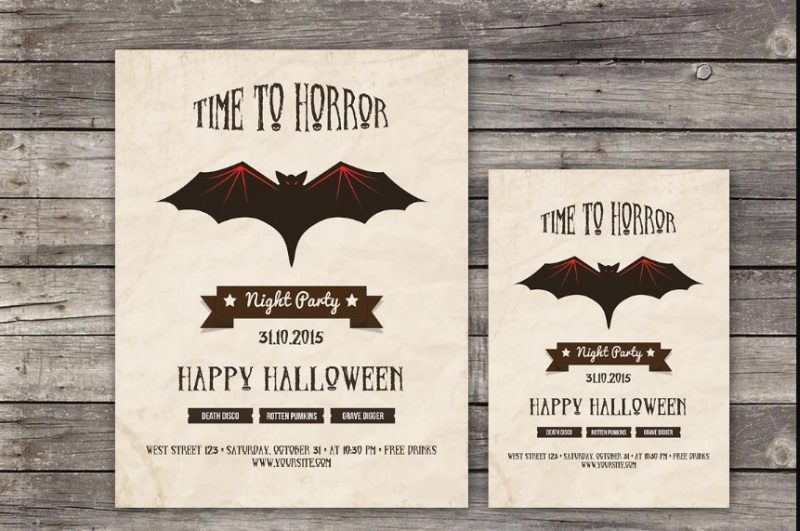 Retro Halloween Invitation Template