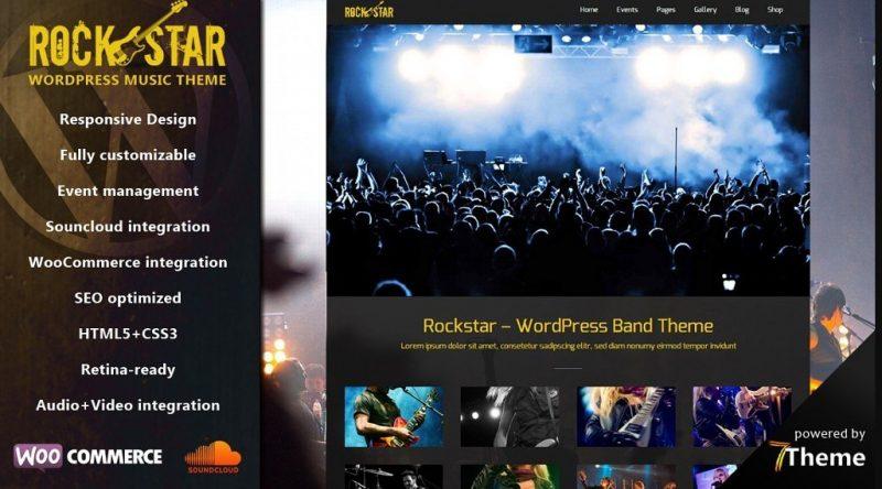 Rockstar WordPress Band Theme