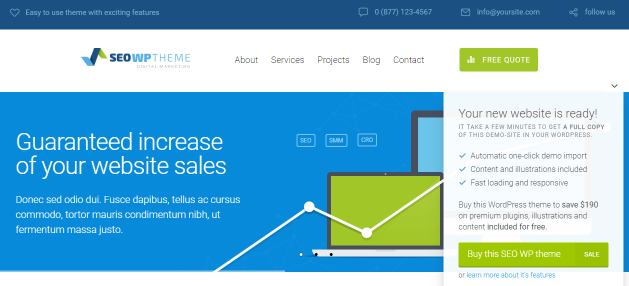 SEO Marketing WordPress Theme