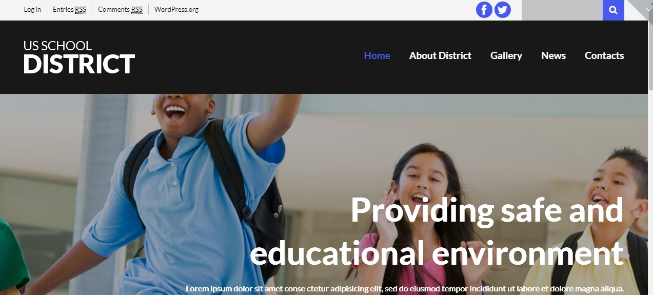 Schooling WordPress Theme