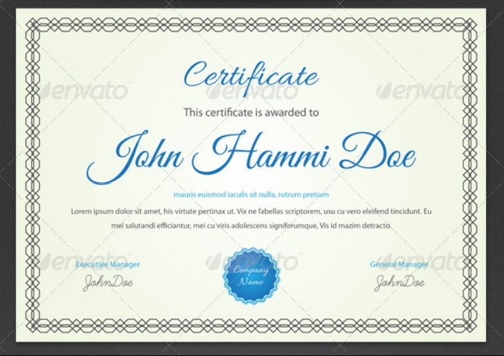 Simple Certificate Template