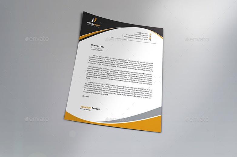 Simple Letterhead PSD Template