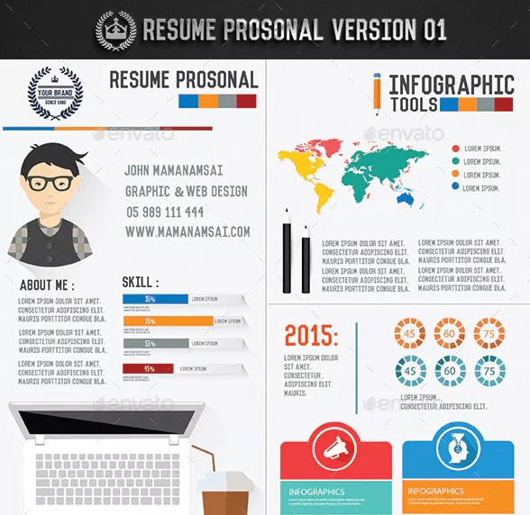 Simple Resume Template PSD Word