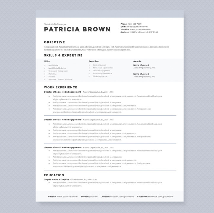 Social Media Manager Resume Template