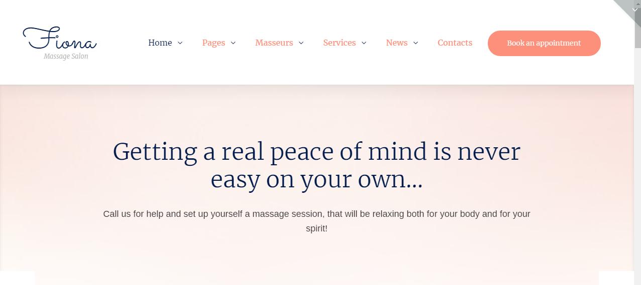 Spa SEO WordPress Theme