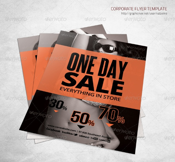 Store Sales Flyer Template
