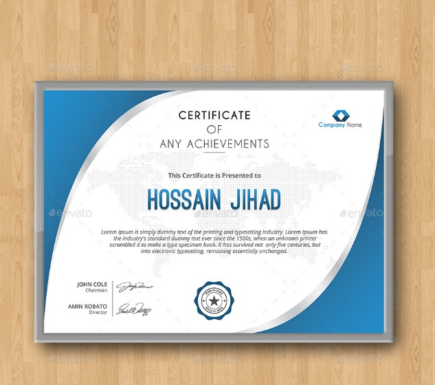 Student Training Certificate Template