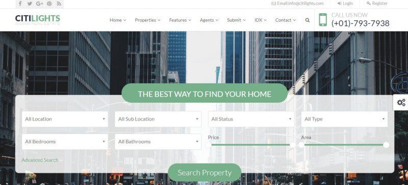 Stylish Real Estate WordPress Theme