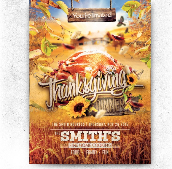 Thanksgiving Dinner Invite Template