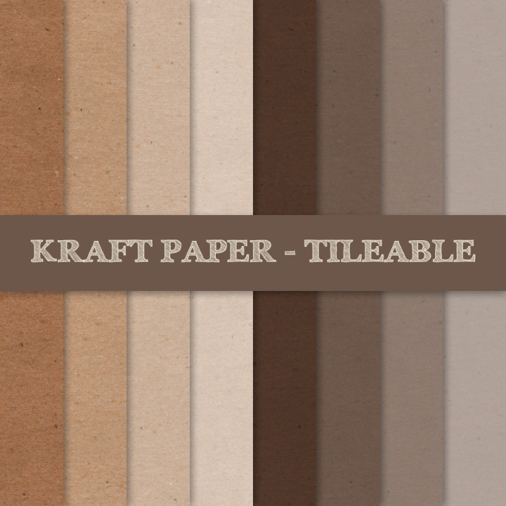 Tileable Kraft Paper Texture