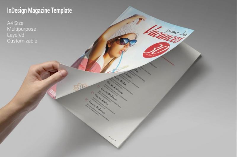 Travel Magazine Template InDesign