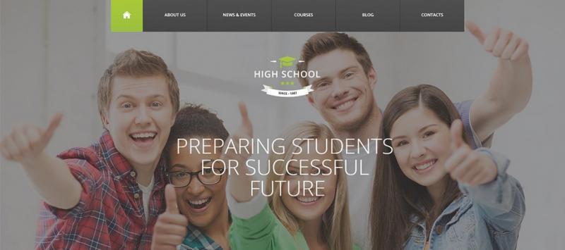 Trending High School WordPress Theme