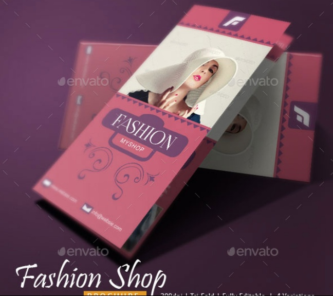 Tri Fold Fashion Brochure Template