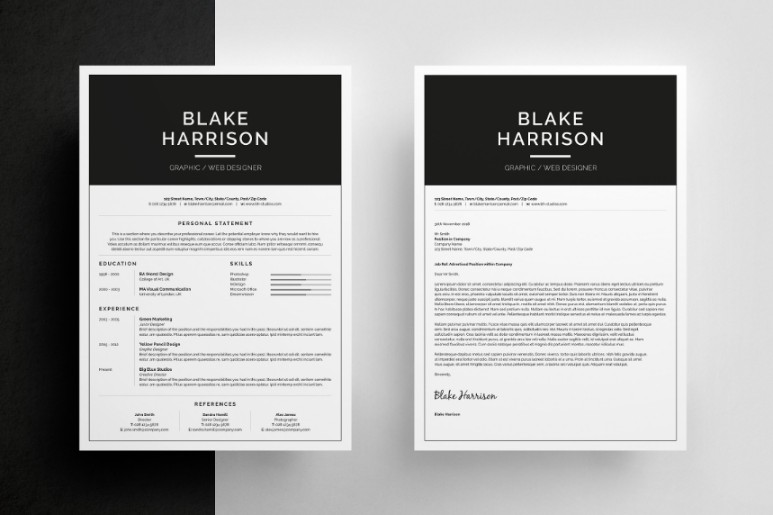 US Letter IT Resume Template PSD