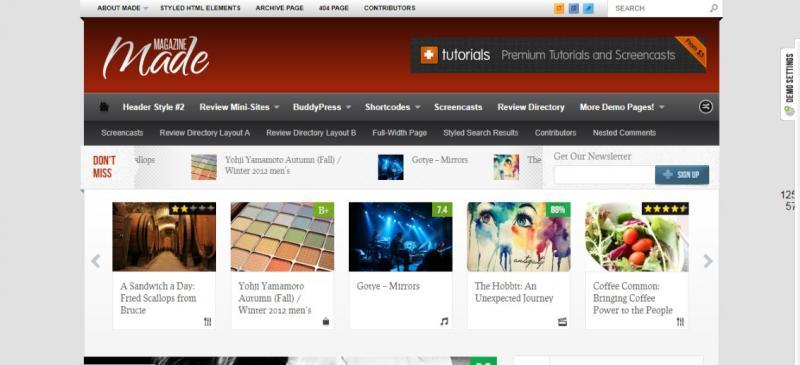 Unique WordPress Review Theme
