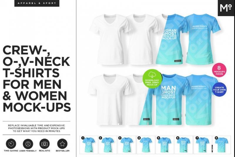 Unisex Ghost T Shirt Mockup