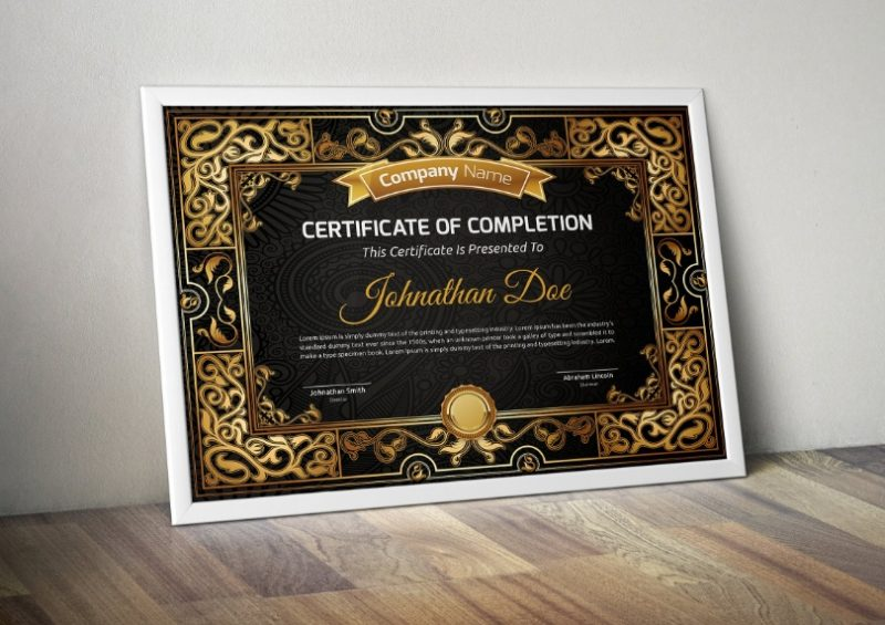 Vintage Completion Certificate Template