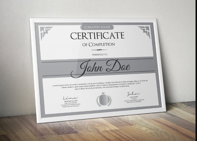 Vintage Diploma Certificate Template