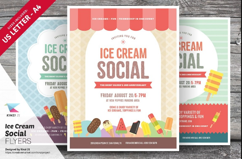 Vintage Flyer Template PSD