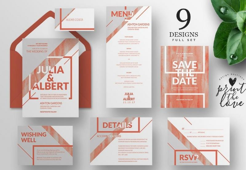 Wedding Invitation Suit Templates