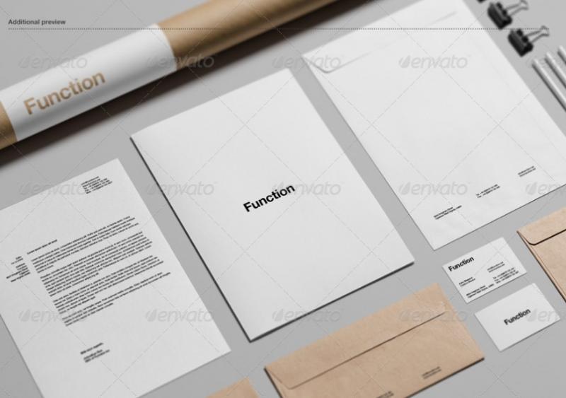 Well Layered Branding Mockup PSD