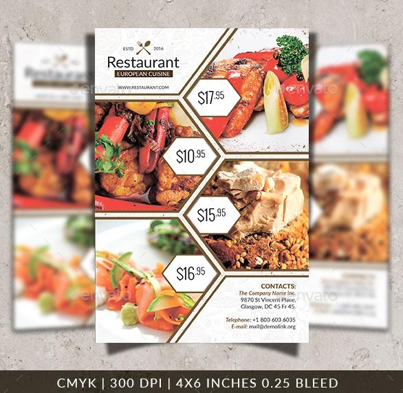 Well organized Restaurant Flyer Template