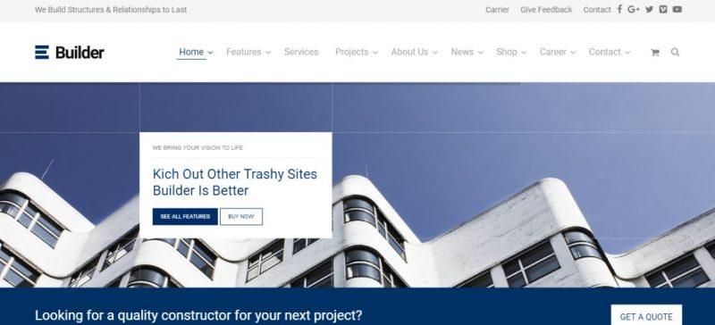 Widget Ready Construction WordPress Theme