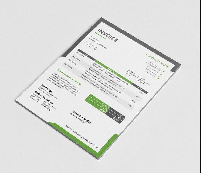 Word Commercial Invoice Template