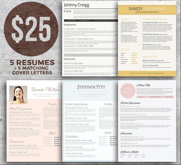 Word Resume Template Bundle
