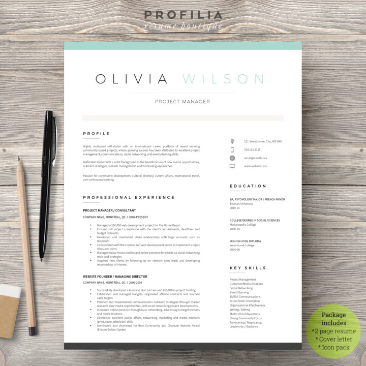 Word Resume and Cover Page Template - Graphic Cloud