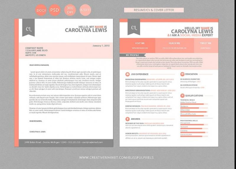 Word and PSD Resume Template