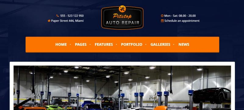 WordPress Car Repair Theme