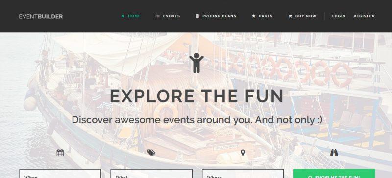 WordPress Event Directory Theme
