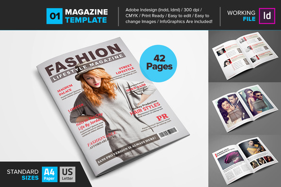 magazine template fashion layout cover theme desigh template