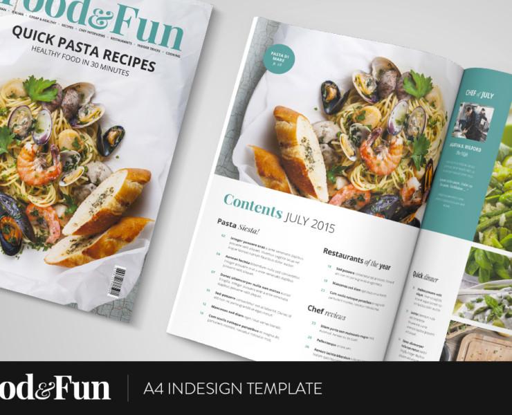 magazine template food layout cover joomla cake template