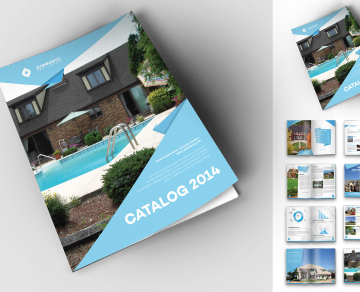 magazine template real estate flyers legal document estate template