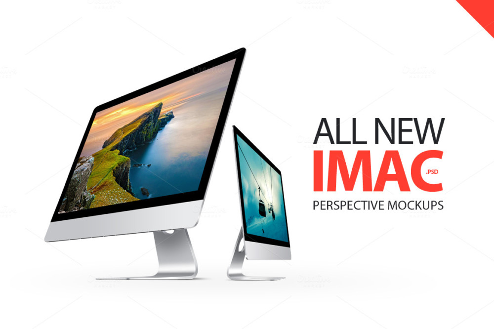 imac-perspective-mockups responsive computer screen mockup free