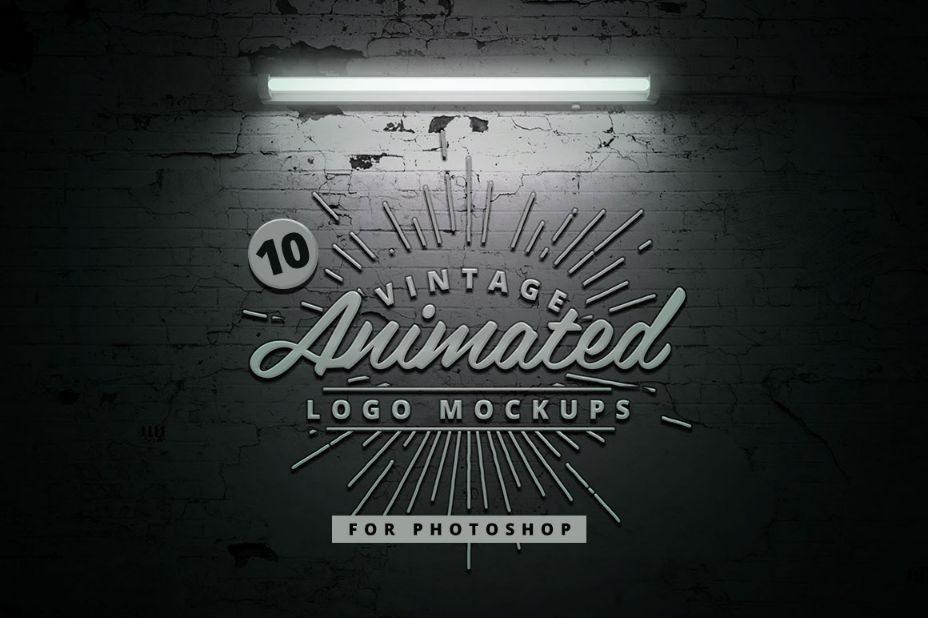 10 Animated Logo Mockup PSD