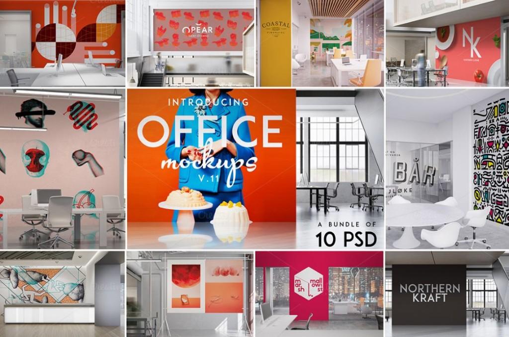 10 PSD Poster Mockup Kit