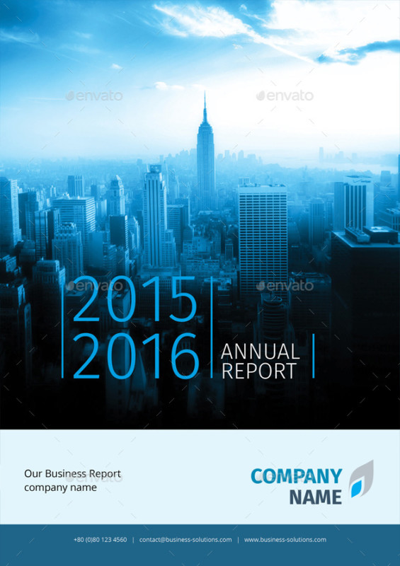annual report blue templates business corporate project template
