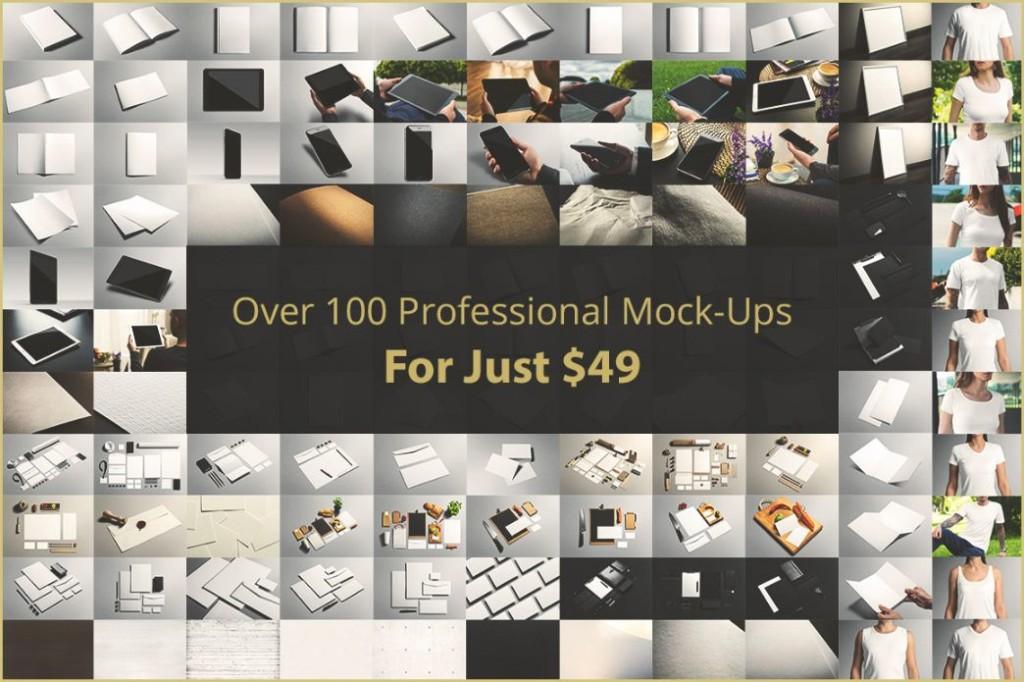 100+ Professional Branding Mockup PSD Bundle