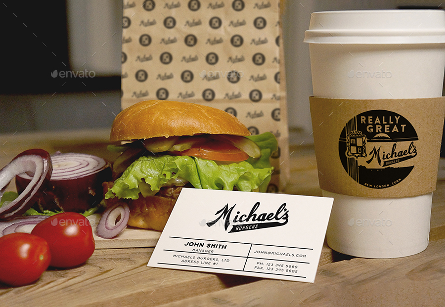 burger coffee mockup_coffee mug bag cup mockup psd free