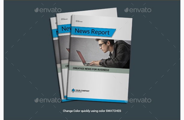 project report template news letter report templates free