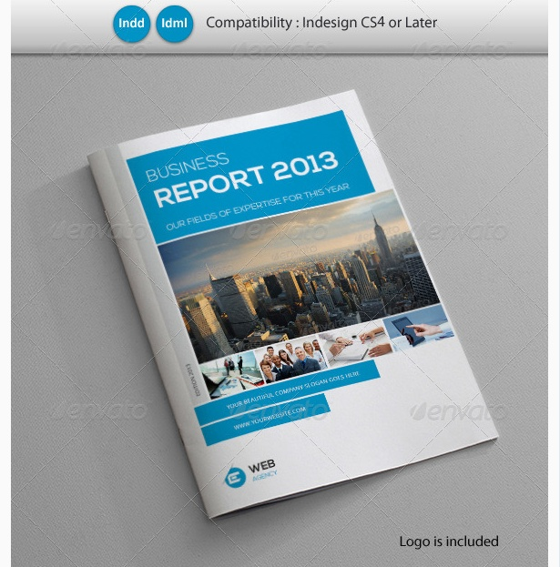 creative business report tempalte project annual report template