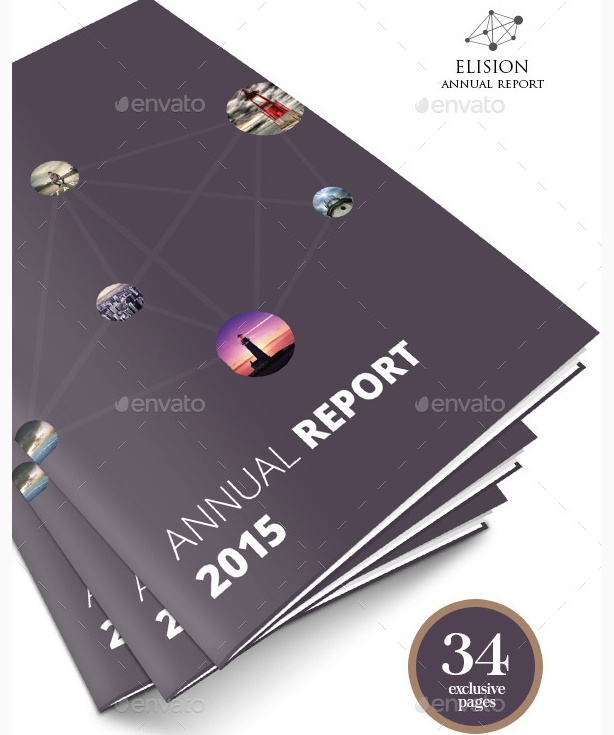 creative annual report templates project business report template free
