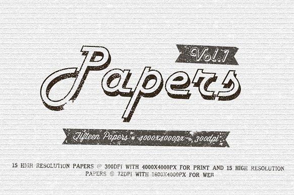 15 Paper Textures