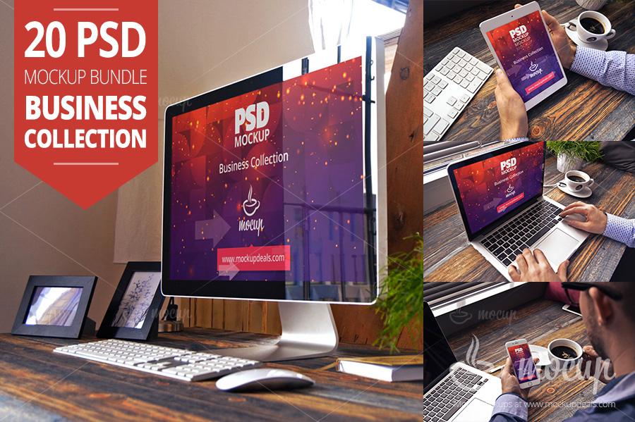 Screen Mockup PSD Templates business_collection_premium_20psd_mockup_bundle_multi device mockup screen